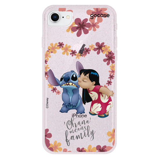 Capinha para celular Lilo e Stitch - Ohana é amor