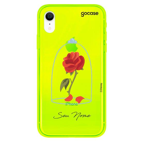 Capinha para celular Disney - A Bela e a Fera - Rosa