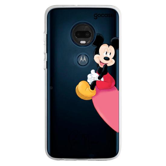 Capinha para celular Disney - BFF Mickey e Minnie Coração - Mickey