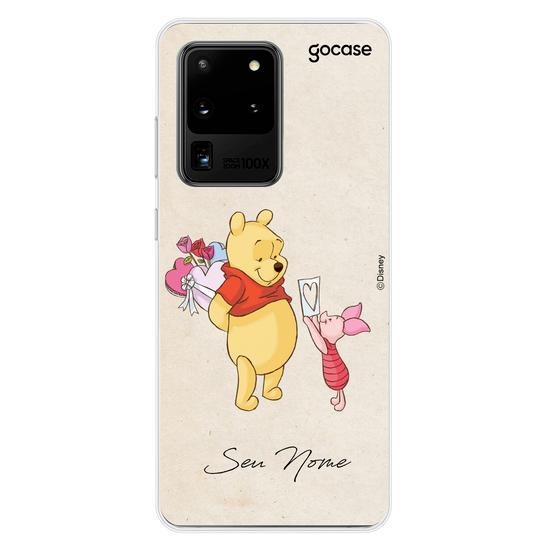 Capinha para celular Disney - Ursinho Pooh e Leitão