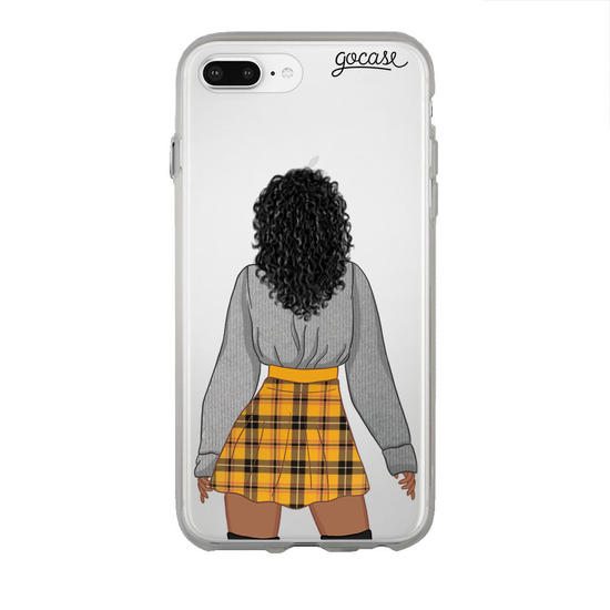 Emily Black Dark Curly Phone Case Deluxe Matte Protection Iphone 8 Plus Gocase