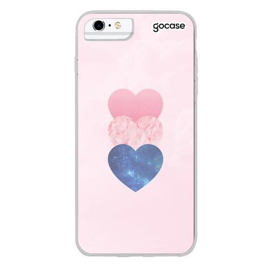 Capinha para celular Fancy Hearts Customizável
