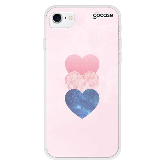 Capinha para celular Fancy Hearts Customizável