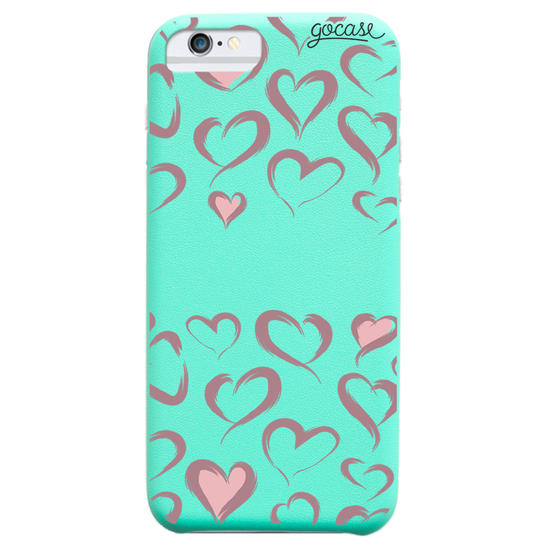 Capinha para celular Fascino -  Brush Hearts