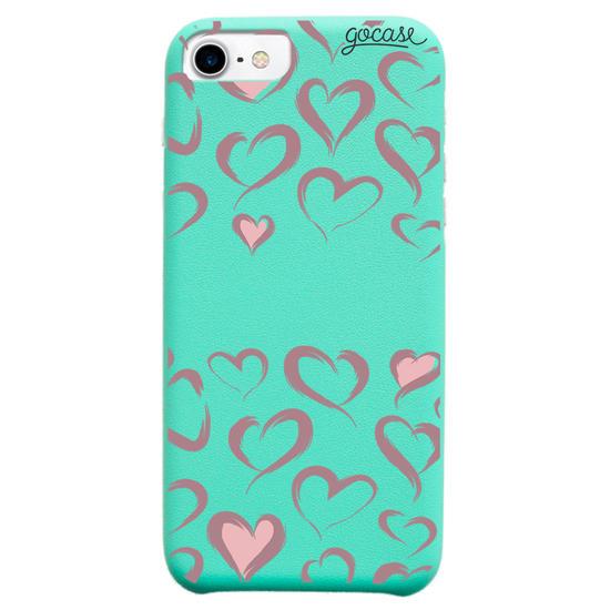 Capinha para celular Fascino -  Brush Hearts