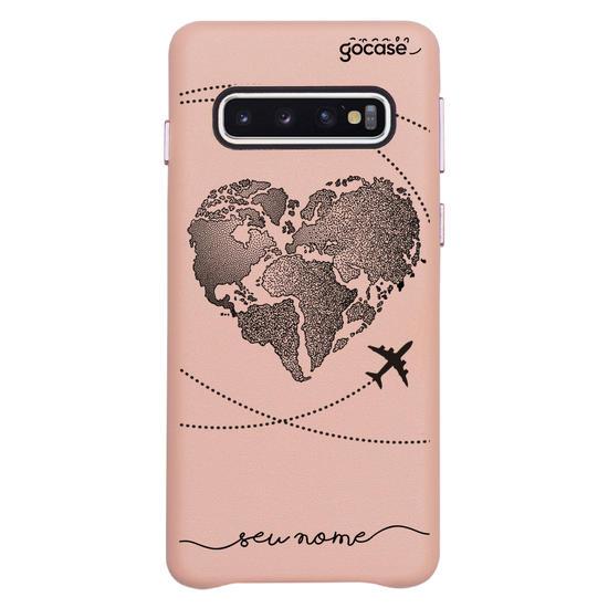 Capinha para celular Fascino - Coração Mapa Mundi