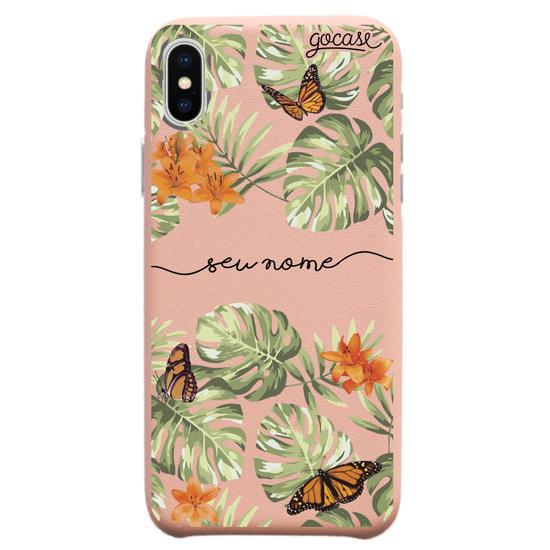 Capinha para celular Fascino - Floral Borboletas Manuscrita
