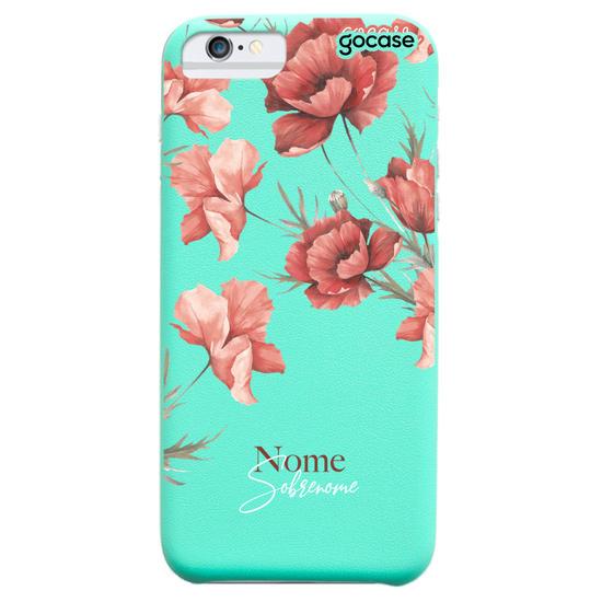 Capinha para celular Fascino - Floral Vermelho Personalizada