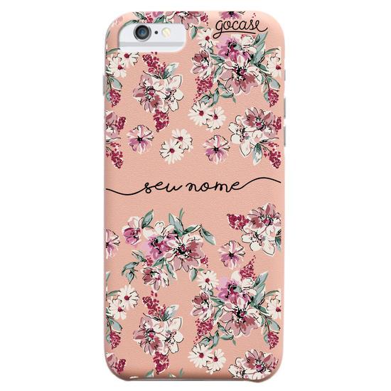 Capinha para celular Fascino - Flores Rosê