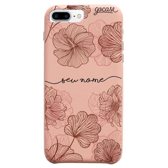 Capinha para celular Fascino - Traços Florais Manuscrita