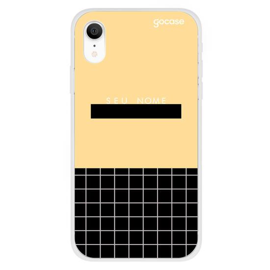 Capinha para celular Fashion Grid Mustard