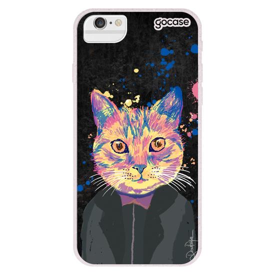 Capinha para celular Felino Neon