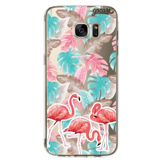 Capinha para celular Flamingo Floral