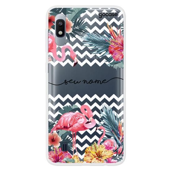 Capinha para celular Flamingos Decor Manuscrita