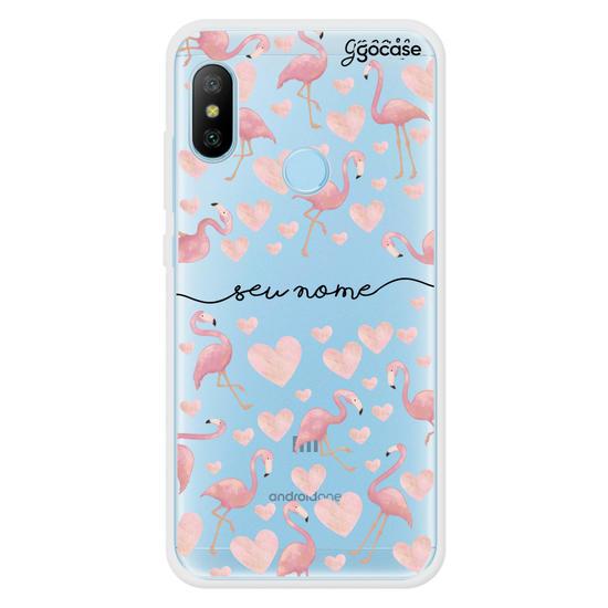 Capinha para celular Flamingos Manuscrita