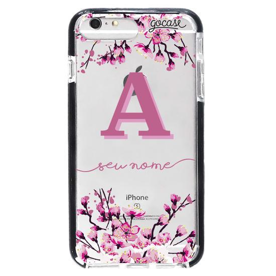 Capinha para celular Flor de Cerejeira Inicial Pink