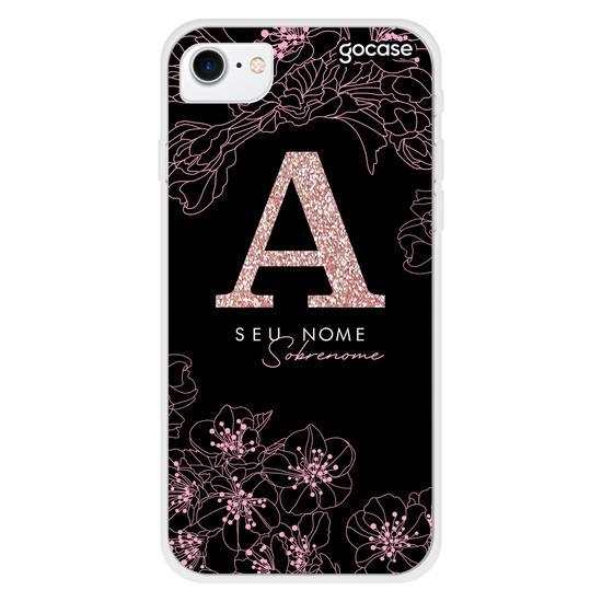 Capinha para celular Modern - Flor de Cerejeira Black