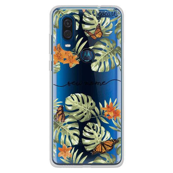 Capinha para celular Floral Borboletas Manuscrita