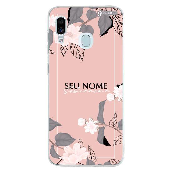 Capinha para celular Floral Classic Decor Personalizado