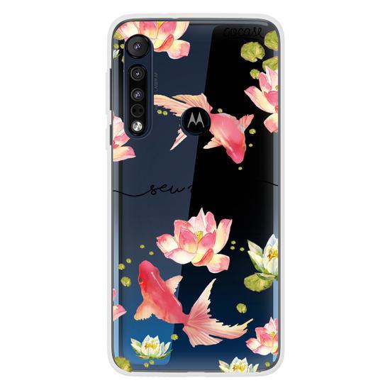 Capinha para celular Floral Lake Manuscrita