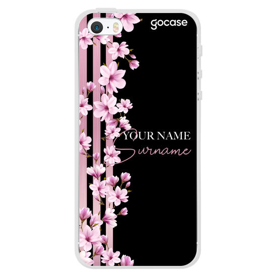 Floral Lines Customizable Phone Case