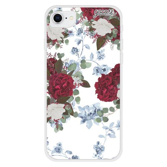 Capinha para celular Floral Vintage - Branca