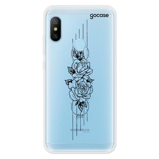 Capinha para celular Flores em Linhas