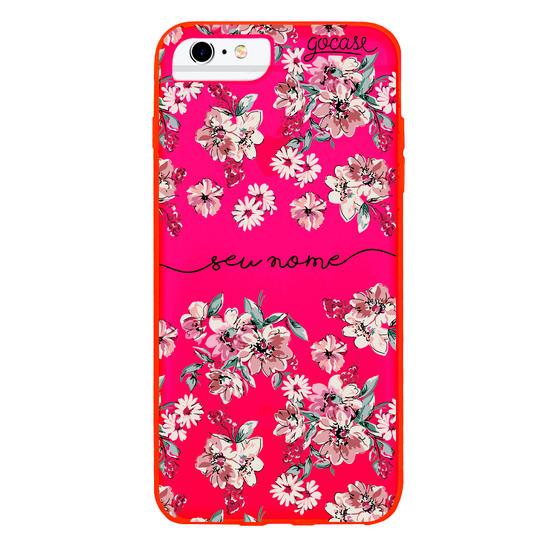 Capinha para celular Flores Rosê