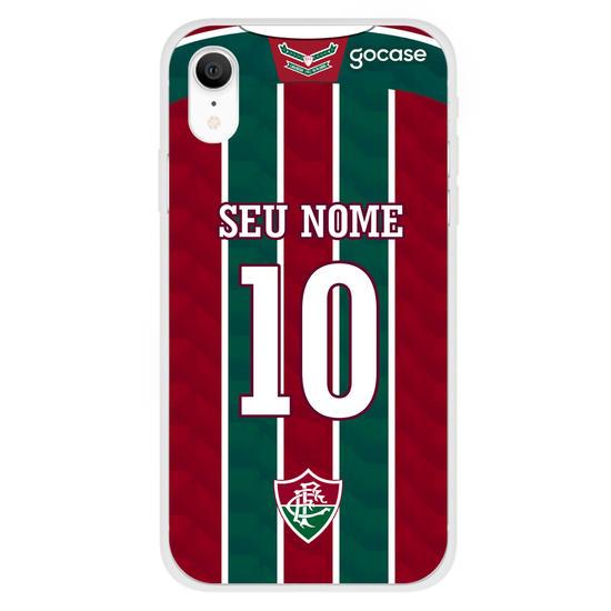 Capinha para celular Fluminense Uniforme 1 2020 Personalizado