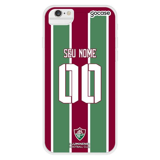 Capinha para celular Fluminense - Uniforme 1 Personalizado