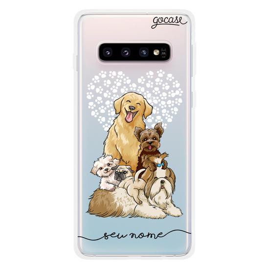 Capinha para celular Fofura de Cachorros Manuscrita