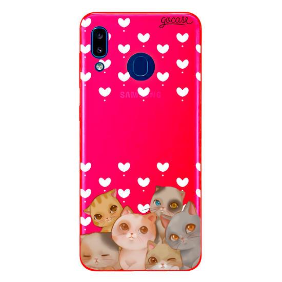 Capinha para celular Fofura de Gatos Manuscrita
