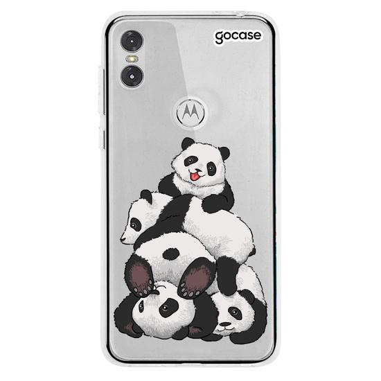 Capinha para celular Fofura de Pandas