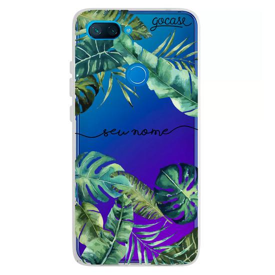 Capinha para celular Folhagem Tropical Manuscrita