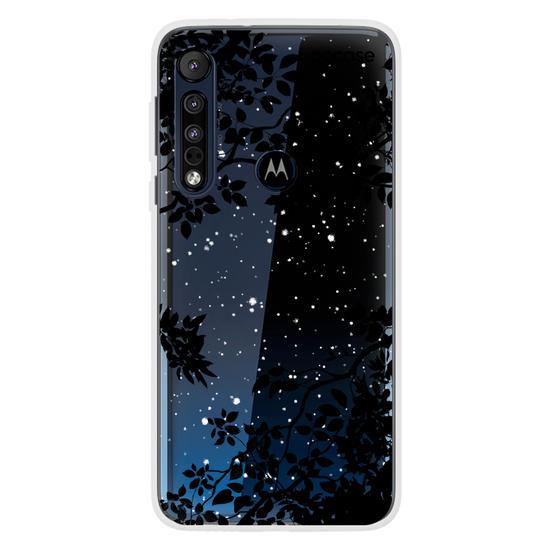 Capinha para celular Folhas Noturnas (Clean)