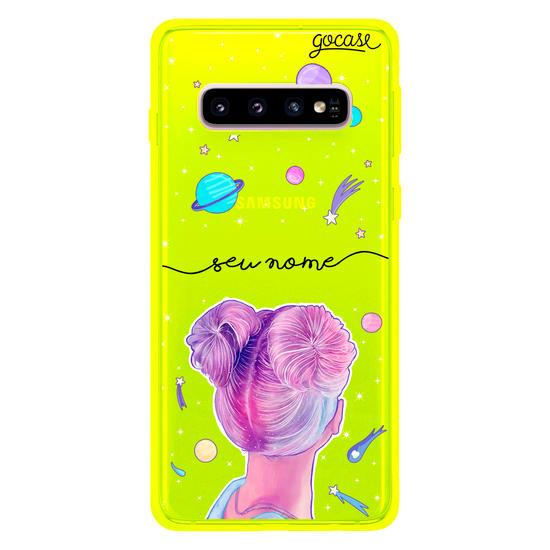 Capinha para celular Garota em Órbita Clean