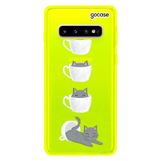 Capinha para celular Gatinho de café