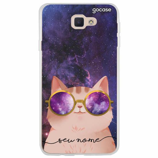 Capinha para celular Gato Galáctico Personalizável