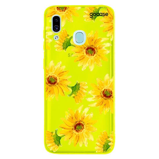 Capinha para celular Girassol