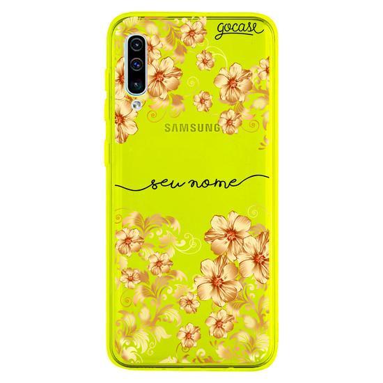 Capinha para celular Golden Flowers Manuscrita