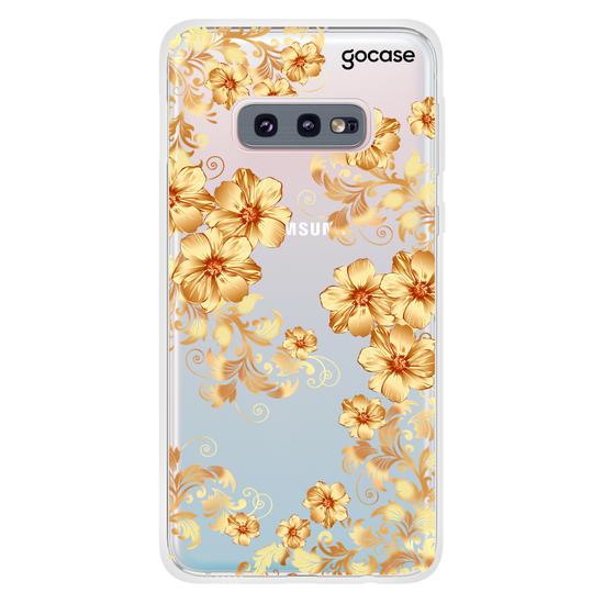 Capinha para celular Golden Flowers