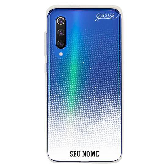 Capinha para celular Gradiente Branco Personalizada