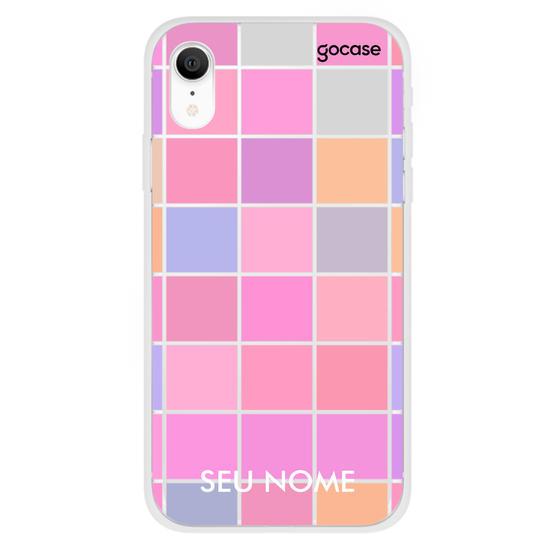 Capinha para celular Grid colorido