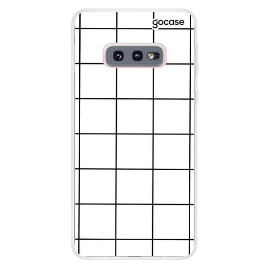 Capinha para celular Grid Lines - Branco