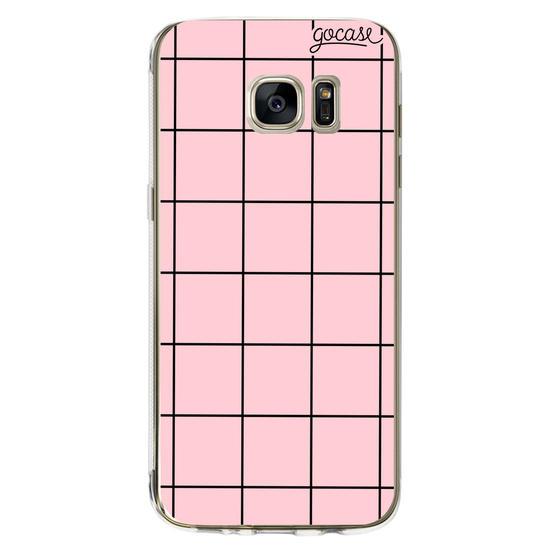 Capinha para celular Grid Lines - Colorido