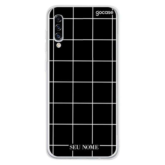 Capinha para celular Grid Lines - Preto