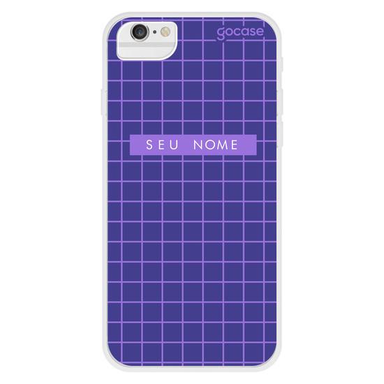 Capinha para celular Grid Style Dark Blue