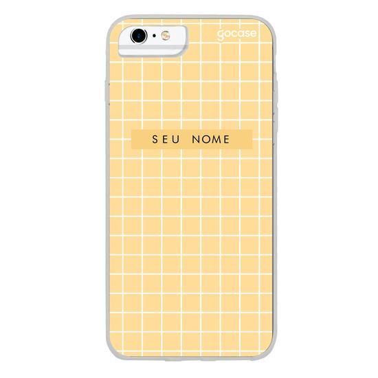 Capinha para celular Grid Style Mustard