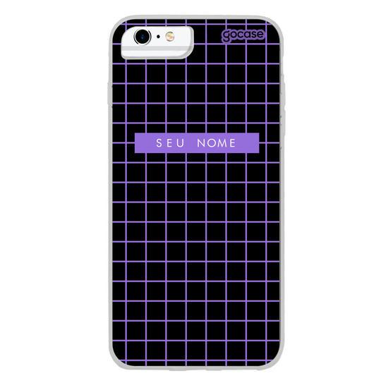 Capinha para celular Grid Style Purple