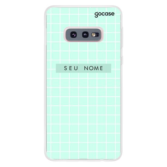 Capinha para celular Grid Style Blue